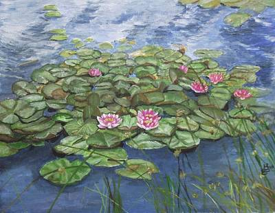 Maryse's Water Lilies Print by Kim Selig
