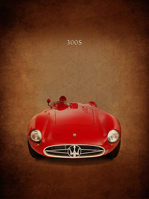 Motor Sports Photograph - Maserati 300 S by Mark Rogan