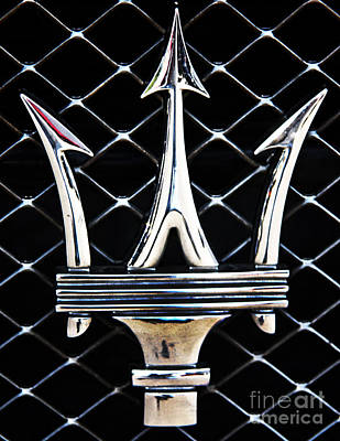 Maserati Photograph - Maserati Emblem by Tom Griffithe