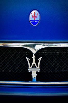 Maserati Photograph - Maserati Hood - Grille Emblems by Jill Reger