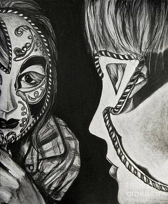 Mask In The Mirror  Print by Sarah Ashbaugh