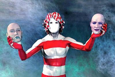 Bipolar Digital Art - Masks by Carol and Mike Werner