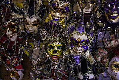 Masks New Orleans Print by Garry Gay