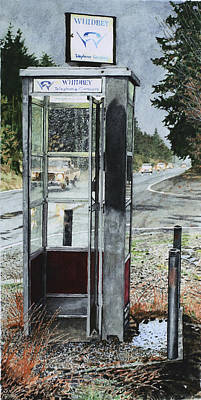 Mason-dixon Phone Booth Print by Perry Woodfin