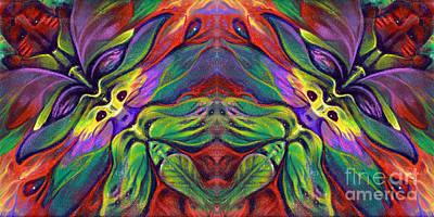 Masqparade Tapestry 7b Print by Ricardo Chavez-Mendez