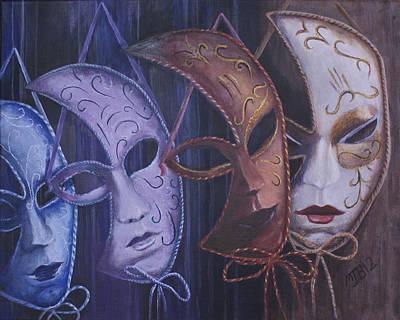 Mardi Gras Painting - Masquerade by Michael Beckett