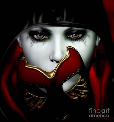 Sad Digital Art - Masquerade by Shanina Conway