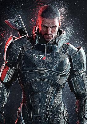 Mass Effect Digital Art - Mass Effect by Taylan Soyturk