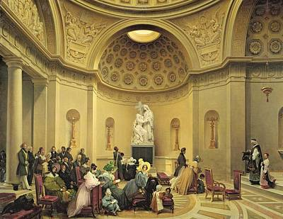 Mass In The Expiatory Chapel Print by Lancelot Theodore Turpin de Crisse