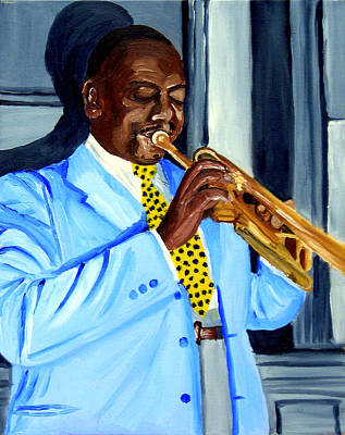 New Orleans Oil Painting - Master Of Jazz by Michael Lee