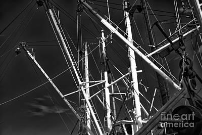 Masts At Barnegat Light Print by John Rizzuto