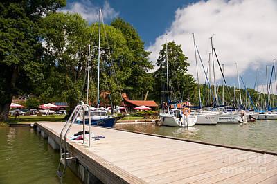Jetty View Park Photograph - Masuria Lake Harbor Boardwalk by Arletta Cwalina