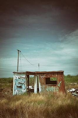 Metallic Container Shed  Print by Carlos Caetano
