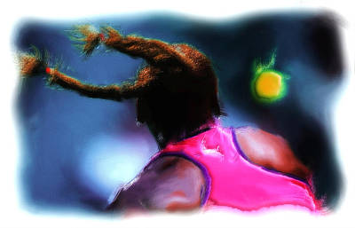 Serena Williams Painting - Match Point by Brian Reaves