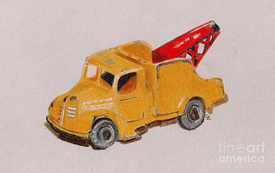 Matchbox Tow Truck Print by Glenda Zuckerman