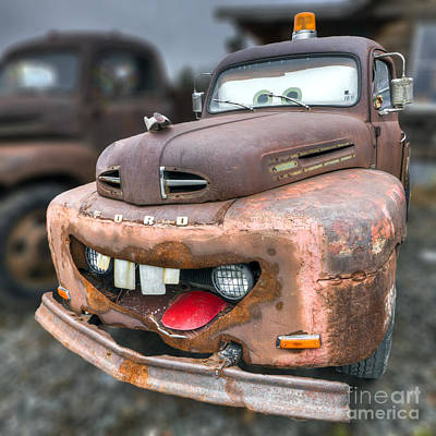 Mater From Cars 2 Ford Truck Print by Dustin K Ryan