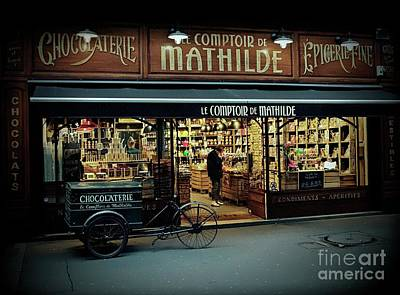 Epicerie Photograph - Mathilde by Lilliana Mendez