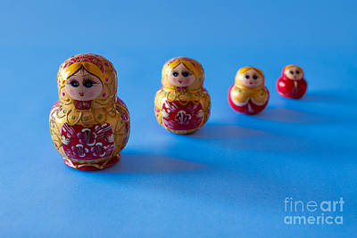 Matryoshka Photograph - Matrioska In A Row by Luigi Morbidelli