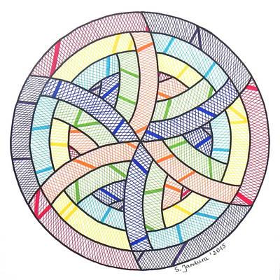 Matrix Dna - Zen Mandala Print by Sabina Jandura