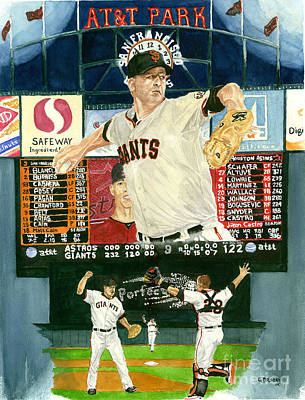 Matt Cain Perfect Night Original by George  Brooks