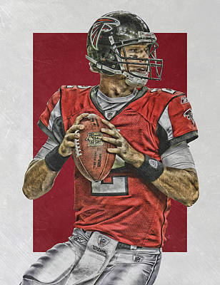 Falcon Mixed Media - Matt Ryan Atlanta Falcons Art 2 by Joe Hamilton