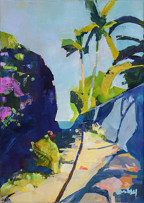 Haleiwa Painting - Maui Beach Path by Stacy Vosberg