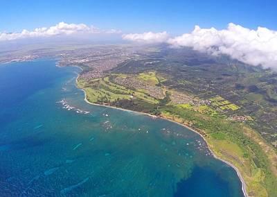 Lush Digital Art - Maui Hawaii Coastline by Stacia Blase