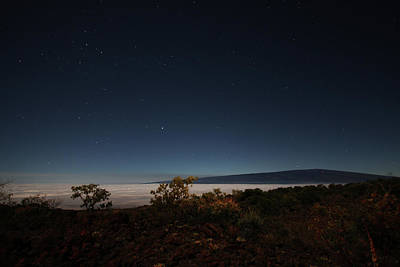 Mauna Kea Photograph - Mauna Loa At Night by Ty Helbach