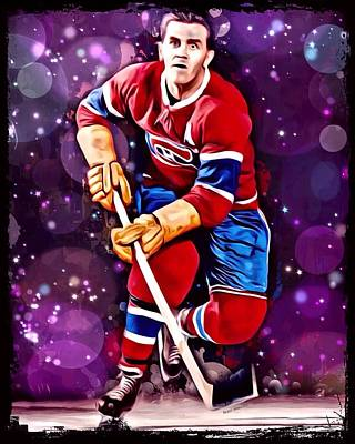 Montreal Canadiens Digital Art - Maurice Richard Montreal Canadiens by Scott Wallace