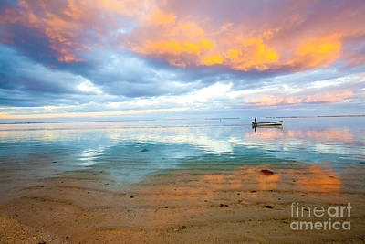 Photograph - Mauritius Fire In The Sky Sunset by Christy Woodrow