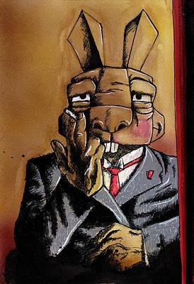 Rabbit Mixed Media - Max Bunnymann by Bizarre Bunny