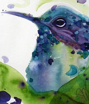 Hummingbird Painting - Max by Dawn Derman