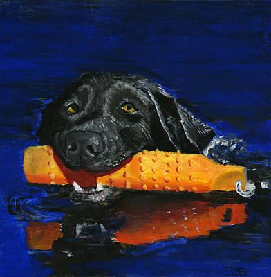 Pooch Painting - Max by Debbie Brown