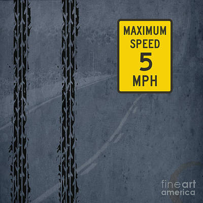 Blue And Red Drawing - Maximum Speed by Pablo Franchi