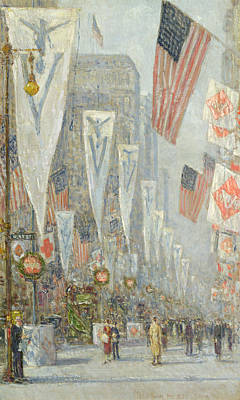World War One Painting - May 1919, 930 Am by Childe Hassam