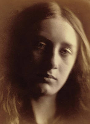 Wistful Photograph - May Prinsep As St John by Julia Margaret Cameron