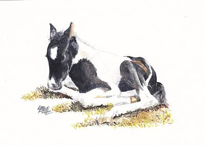 Pinto Painting - Maya Resting by Leonie Bell