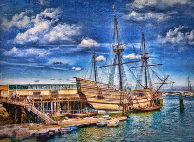 Waterview Photograph - Mayflower Ship by Gina Cormier
