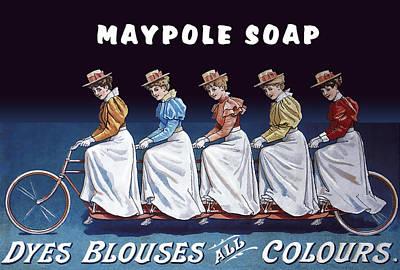 Blouse Mixed Media - Maypole Soap Retro Vintage Ad 1890's by Daniel Hagerman