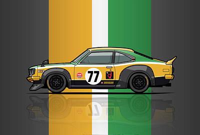 Mazda Savanna Gt Rx3 Racing Yoshimi Katayama 1975 Original by Monkey Crisis On Mars