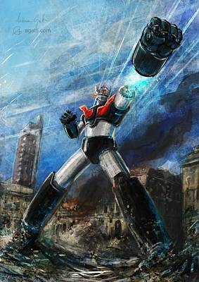 Mecha Digital Art - Mazingerz by Andrea Gatti