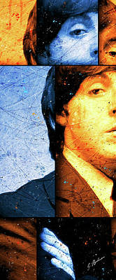 Paul Mccartney Digital Art - Mccartney Panel 1 by Gary Bodnar