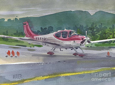 Airport Painting - Mccullum Airport by Donald Maier