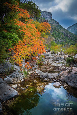 Guadalupe Photograph - Mckittrick Canyon by Inge Johnsson