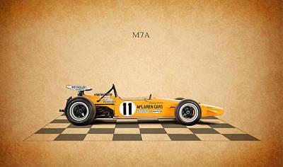 Mclaren M7a 1968 Print by Mark Rogan