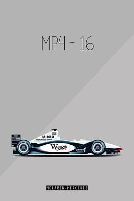 Mp4 Painting - Mclaren Mercedes Mp4-16 F1 Poster by Beautify My Walls