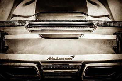 Mp4 Photograph - Mclaren Mp4 12c Rear View -0668s by Jill Reger