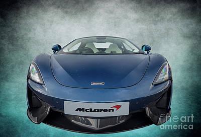 Rain Digital Art - Mclaren Sports Car by Adrian Evans