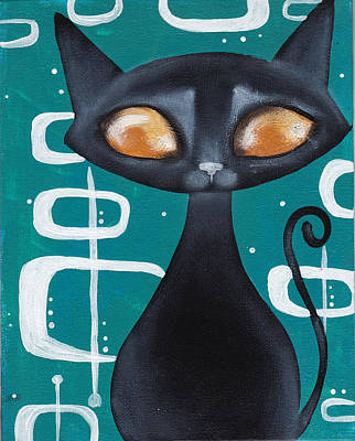 Mcm Cat Print by Abril Andrade Griffith