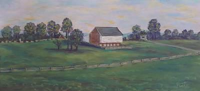 Mcphersons Barn Gettysburg Original by Joann Renner